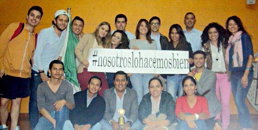 Con il gruppo ROTARACT di Aguascalientes promuovendo le attività del Centro Reffo A.C. con l'hashtag #nosotroslohacemosbien.